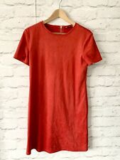 ZARA Dress Size Medium RED FAUX SUEDE | SMART Occasion WEDDING Cruise RACES