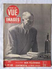 POINT DE VUE IMAGES DU MONDE 2  (1948) MAURICE CHEVALIER RARISSIME