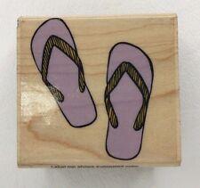 Summer Flip Flops Wood Mounted Rubber Stamp by Hero Arts