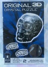 New Original 3D Crystal Puzzle SKULL-Bepuzzled-Level 2-48 Pcs- Clear