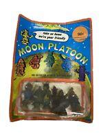 Vtg Moon Platoon Suction Cup Rubber Jiggler Alien Monster Hong Kong Complete