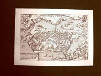 Antica veduta della città di Mantova Incisione del 1616 Ristampa