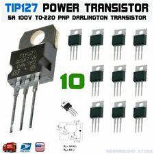 10pcs Tip127 Power Transistor 5a 100v Pnp Darlington To 220 St Bipolar