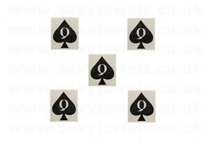 Mini Queen Of Spades Style 2 QOS Temporary Tattoo BBC Hotwife FREE P&P- Pack 5