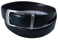DOCKERS Burgundy Black Genuine Leather Men's Reversible Belt Sz 38/95
