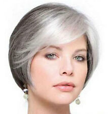 ZWSW04 fine vogue short brown mix white natural Hair Wigs for modern women wig