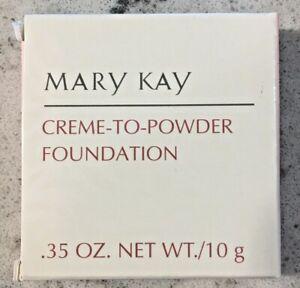NEW OLD STOCK * MARY KAY 2.0 IVORY .35 OZ CREME-TO-POWDER FOUNDATION *