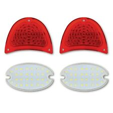 57 1957 Chevy Bel Air 210 150 Nomad Rear LED Tail & Back Up Light Lamp Lens Set