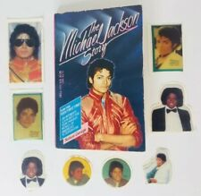 Michael Jackson Story Paperback Book Nelson George + 8 ORIG Puffy Stickers 1984