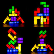 7Pcs Tetris Puzzle Lights Stackable DIY LED Lamp Constructible Block Night Light