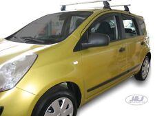 DNI24245 Nissan Note 2006-2011 wind deflectors 4pc set Internal Fit  TINTED HEKO