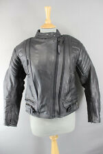 BRITISH DESIGNED RHINO COWHIDE LEATHER BIKER JACKET & REMOVABLE ARMOUR SIZE 12