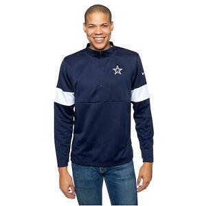 Nike Mens NFL Dallas Cowboys Therma Pullover Jacket Sweatshirt Medium NEW $85