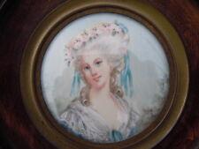 Portrait miniature princesse de Lamballe signé Canova