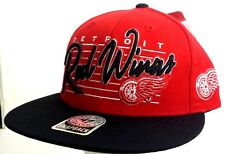 Detroit Red Wings Snapback Cap Hat NHL Hockey 47 Brand NWT New Red Black