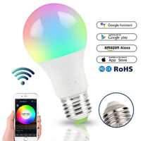 E27 WiFi Smart Light Bulbs RGB LEDLight Lamp Compatible with Alexa Google Home
