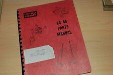 LINK BELT LS68 Speeder Crawler Crane Parts Manual book catalog boom lattice lbs
