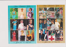 Princess Diana of Wales 6 Souvenir Sheets 36 Stamps from Niger Somalia Others  