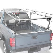 "Universal 132""x57"" Adjustable Pickup Truck Bed 4-Bar Carrier Ladder Rack Silver"