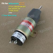 Fuel Shutoff Stop Solenoid Valve 1751-24E3U1B1S1 24V Fit for Mitsubishi Engine