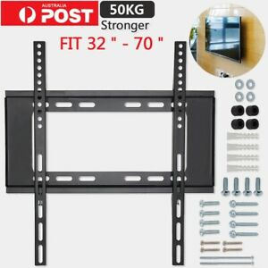 "Universal Slim TV Wall Mount Bracket SONY SAMSUNG LG HISENSE 32-70"" INCH LED LCD"