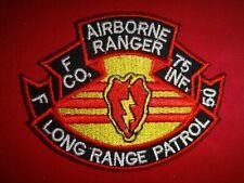F Co. LRP 75th INFANTRY Rgt 50th infantry Det. 25th infantry Vietnam War Patch