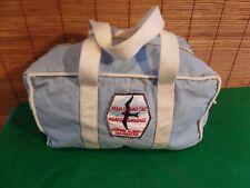 VINTAGE MRS. Norman Albury Sailmakers  Canvas Duffel Bag 12X6X8 LIGHT BLUE
