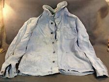 Ancienne veste bleu de travail en moleskine made in France FOR vetement usine