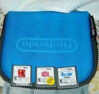 Nintendo DS  3 games/ Minion Mayhem, Wipeout, Wreck it Ralph plus carry case