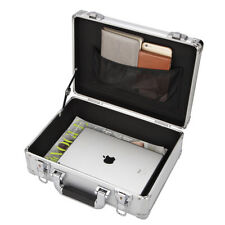 Silver Aluminum Hard Briefcase Business Office Tablet PC SuitcaesOutdoor Toolbox