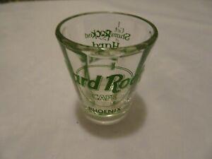 """Hard Rock Cafe Phoenix St. Patrick's Day 2001 """"I got Shamrocked"""" shot Glass"""