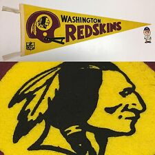 1970's Vintage Washington Redskins Nfl Football Pennant 11.5x30 Red Skins DC