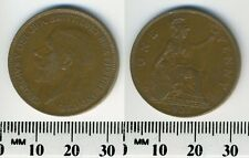 GREAT BRITAIN 1927 - 1 Penny  Large Bronze Coin - King George V