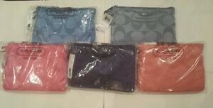 NWT AUTHENTIC COACH SIGNATURE NYLON PACKABLE WEEKENDER BAG - F77321 MULTI COLOR