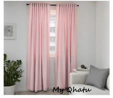 """IKEA Sanela Curtain 1 panel 55 x 118"""" velvet light pink"""