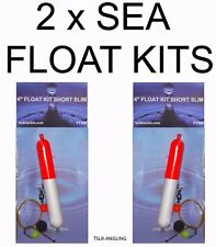 2  NEW SEA FLOAT KITS + SWIVEL HOOK WEIGHT BEADS FISHING TACKLE FLOATS PIKE CRAB