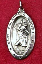 Carmelite Nun's Vintage THEDA Sterling Saint Christopher Pilgrimage Rosary Medal