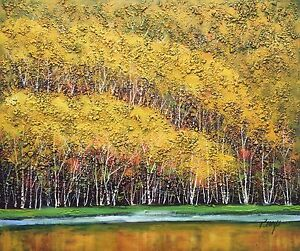 Original Oil Painting, Hand Painted,Forest,51 X 61 cm