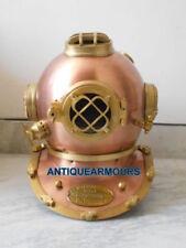 Antique Style Solid Scuba SCA Divers Diving Helmet Vintage Gift Deep Sea Navy US