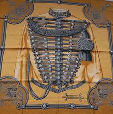 """Hermes Paris  """" BRANDEBOURGS """" 100% Silk Scarf"""
