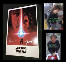 The Last Jedi signed photo 11x17 Star Wars poster Rian Johnson proof cast x2