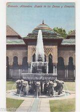 Spain, Granada, Alhambra, Fuente de los Leones y Templete Postcard, B426