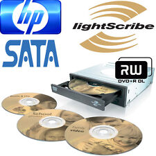 HP LIGHTSCRIBE DL DVD+RW SATA DVD Burner Writer Internal Optical Desktop PC