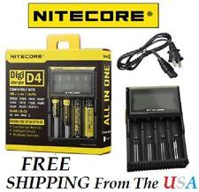 NTECORE All in One Digi D4 Charger Li-ion, Ni-MH, Ni-Cd 26650 18650 18350 *New!