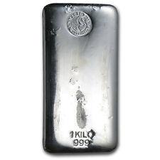 1 kilo Perth Mint Silver Bar - Cast Silver Bar - SKU #57625