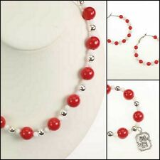 NEW! NC NORTH CAROLINA STATE WOLFPACK JEWELRY SET - NECKLACE BRACELET EARRINGS