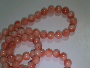 Vintage Natural PINK Coral Beads 5mm 45 Beads NICE (65