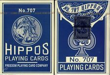Hippos 707 Playing Cards Poker Size Deck FPCC Custom Limited Edition Sealed New