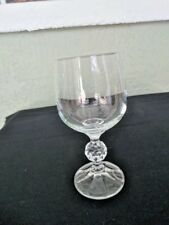 Import Assoc Clear Glass Claudia Wine Stem Multifaceted Ball on Stem