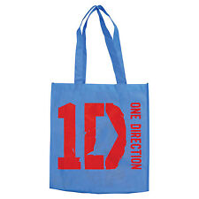 One Direction Bag For Life Shopper Bag.1D Logo Blue Retro Boyband Pop Music Her